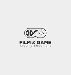 Film game cinema joystick simple logo template vector