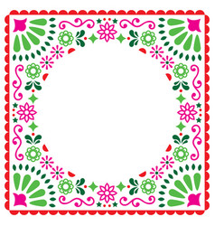 folk greeting card mexican invitation vector image