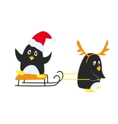 Funny christmas cartoon vector image