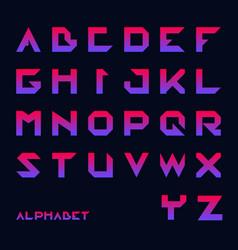 Geometrical font modern futuristic typography vector