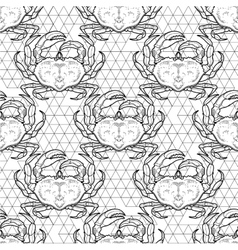 Graphic crab pattern vector