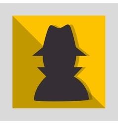 Hacker thief man vector