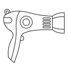 Hairdryer icon outline style vector
