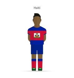 Haiti football player Soccer uniform vector