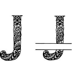 Hand drawn letter j vector
