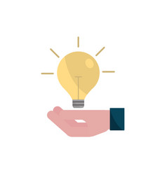 hand with bulb idea property intellectual vector image