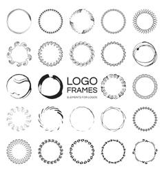 Handdrawn round frames vector image