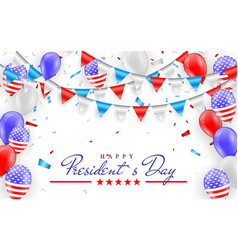 happy president day hanging bunting flags vector image