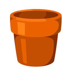 home decoration vase of flower pot vector image