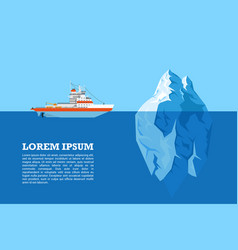 iceberg and ship vector image