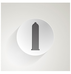 icon for condom vector image