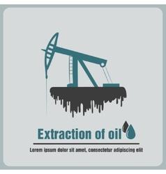 icon oil rig vector image