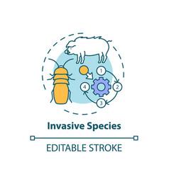 Invasive species concept icon vector