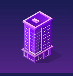 Isometric ultraviolet city vector