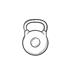 kettlebell hand drawn outline doodle icon vector image