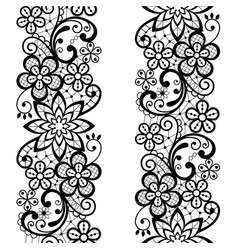 Lace seamless pattern repetitive ornament vector