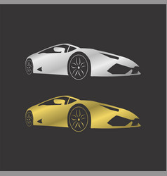 Lamborghini silver and gold vector