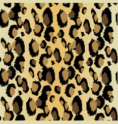 leopard pattern seamless print realistic vector image
