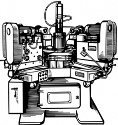 machine tool vector image