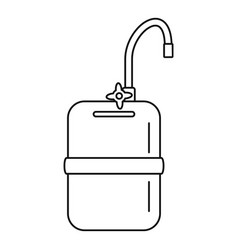 mobile water tank tap icon outline style vector image