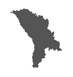 Moldova map black icon on white background vector