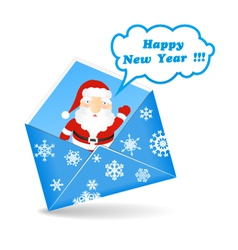 New Years message vector image