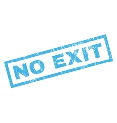 No Exit Rubber Stamp vector