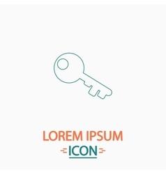Old key computer symbol vector image