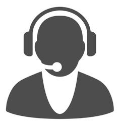Operator Flat Icon vector