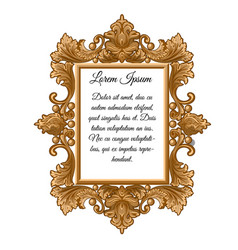 Ornate vintage frame with space for your text vector