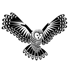Owl bird for mascot or tattoo design or idea of vector