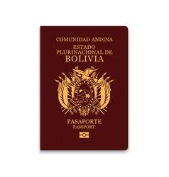 Passport bolivia citizen id template vector