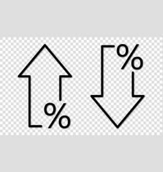 Percent arrow icon graphic vector