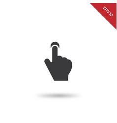 push button icon vector image