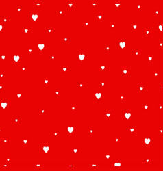 red hearts background seamless pattern vector image