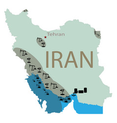 reservoirs of oil in iran vector image