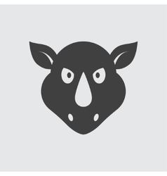 Rhinoceros icon vector image