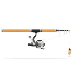 rod spinning for fishing 01 vector image