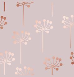 rose gold decorative pattern with floral elements vector image