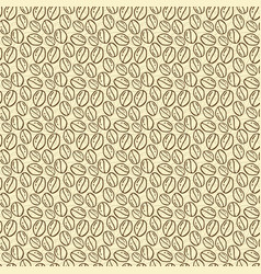 seamless patterns with hand drawn coffee beans vector image