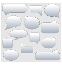 Set frame for the chat and comments vector image