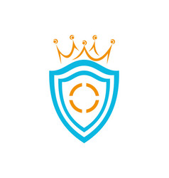 shield king logo icon vector image