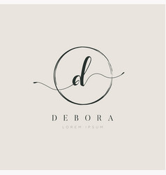 Simple elegant initial letter type d logo sign vector