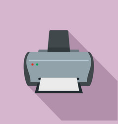 simple printer icon flat style vector image