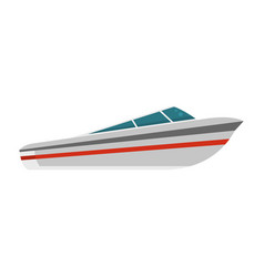 Speed boat icon flat style vector