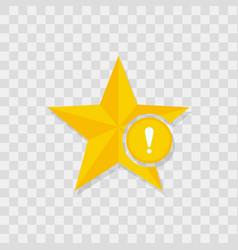 star icon warning icon vector image
