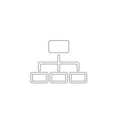 tree structure flat icon vector image
