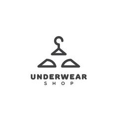 Underwear shop logo vector