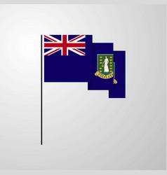 Virgin islands uk waving flag creative background vector
