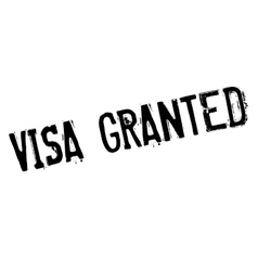 Visa Granted rubber stamp vector